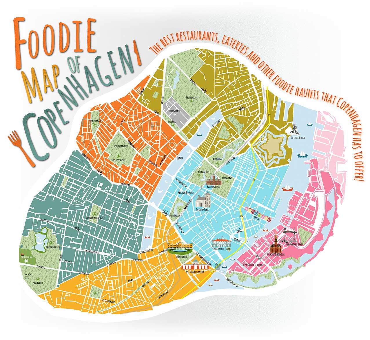 Expedia – Copenhagen Tourist Attractions Map